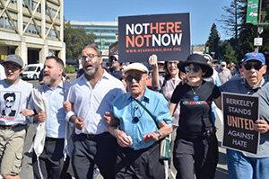 Ben Stern protesting